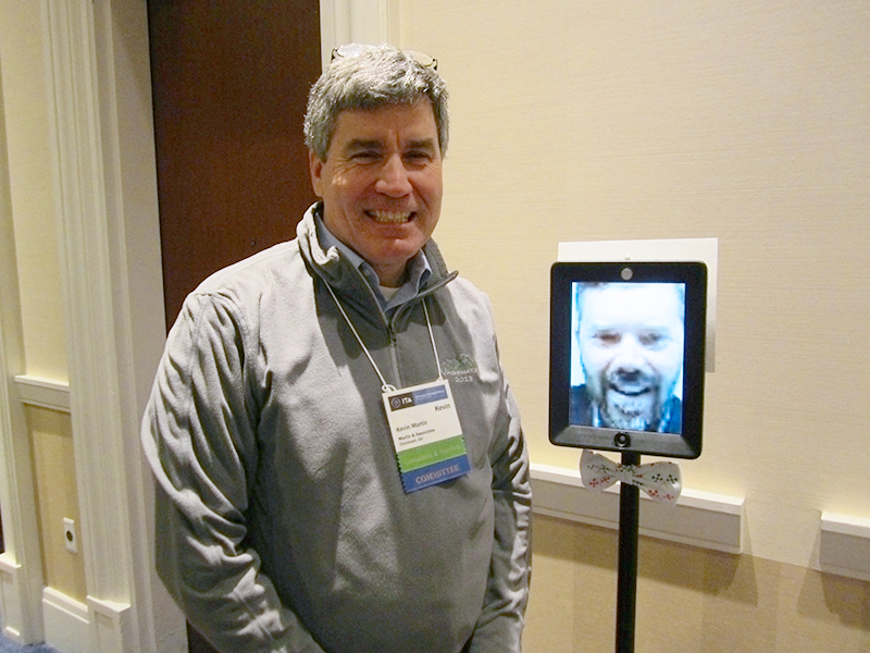 Kevin Martin at ITA Collaborative with Double Robot