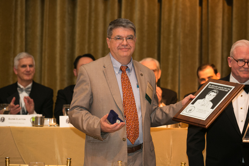 Dr. Amadei accepts award at Engineers Week